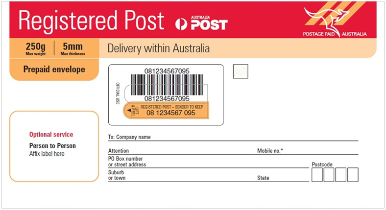 registered post tracking